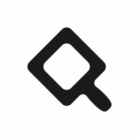Isolated square magnifier. Flat   icon, symbol. Vector illustration.