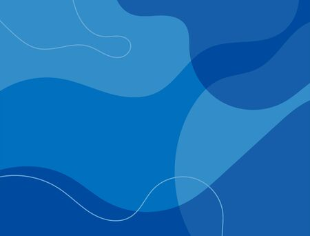 Rectangular abstract blue background. Modern vector illustration.