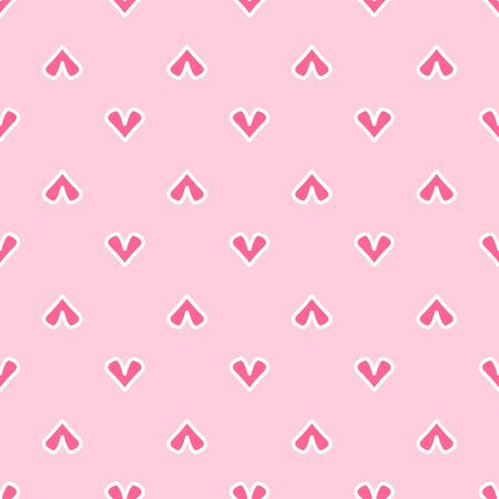 Seamless pattern with repeating hearts. Cute flat vector illustration.