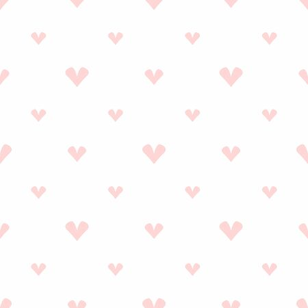 Simple seamless pattern with pale hearts. Cute romantic print. Girly vector illustration. Иллюстрация