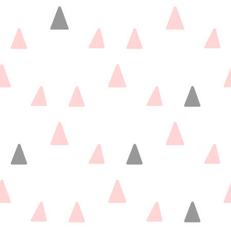 Cute seamless pattern with repeated triangles. Simple vector illustration.