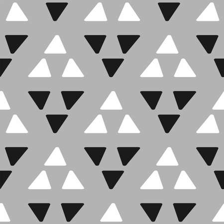 Simple seamless pattern with triangles. Vector illustration.