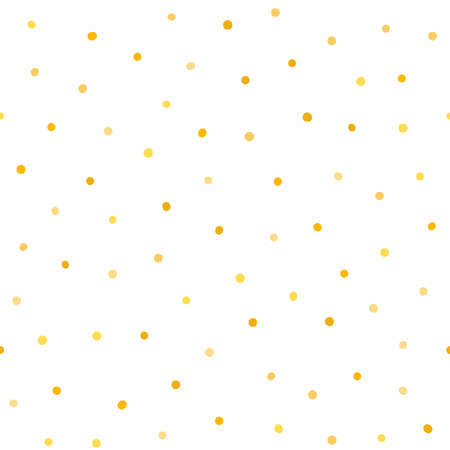 Seamless pattern with scattered golden dots. Simple vector illustration.