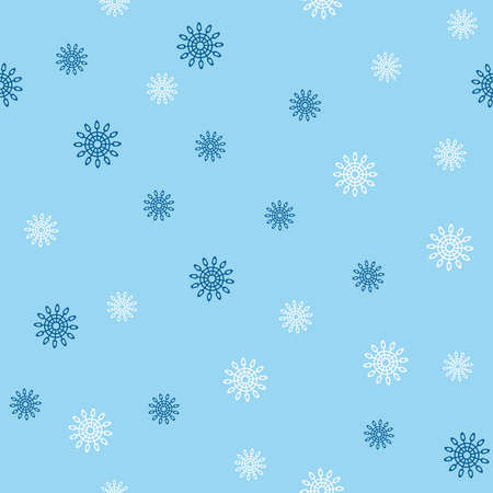 Simple seamless pattern with snowflakes. Vector illustration. Vettoriali