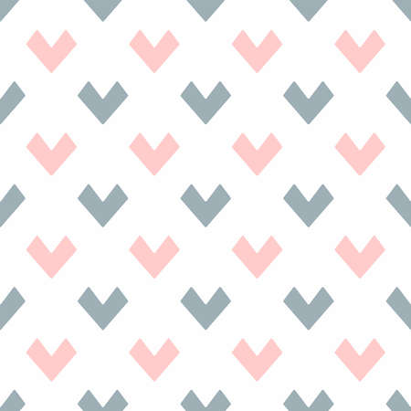 Seamless pattern of pastel color hearts