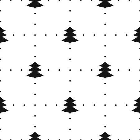 Simple seamless pattern with Christmas trees. Vettoriali