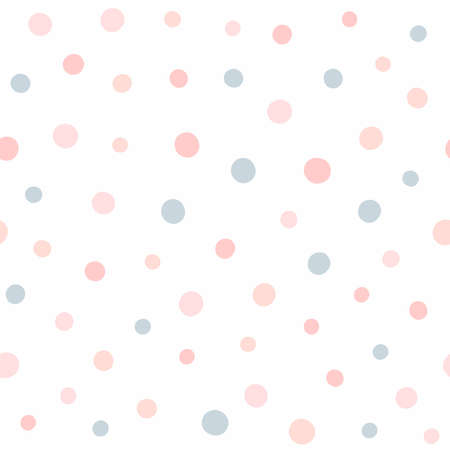 Cute seamless pattern with randomly scattered small dots. Endless girly print. Simple vector illustration.