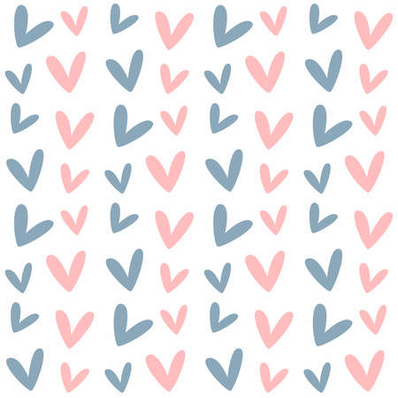 Simple seamless pattern with hearts. Cute endless print. Vector illustration.