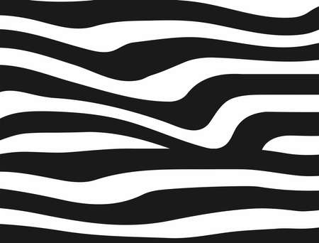 Rectangular template for design. Horizontal flat background with distorted stripes. Simple vector illustration.