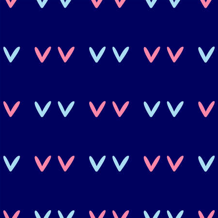 Simple seamless pattern with repeated hearts. Cute endless print. Romantic vector illustration. Иллюстрация