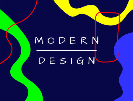 Stylish rectangular abstract background. Bright design template drawn by hand. Modern vector illustration. Иллюстрация