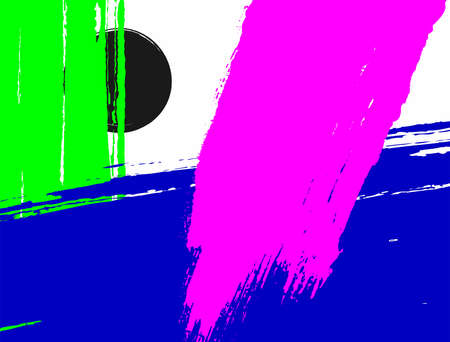 Abstract background with brush strokes. Sketch, paint, watercolor. Modern template. Neon colors. Rectangular vector illustration.
