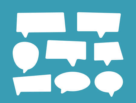 Set of flat speech bubbles. Collection of isolated elements. Vector illustration. Иллюстрация
