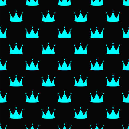Simple seamless pattern with repeating crown. Vector illustration.