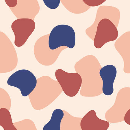 Simple seamless pattern with repeating abstract shapes. Vector illustration.