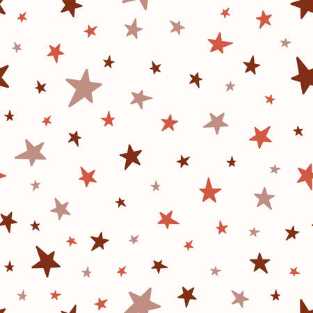 Seamless pattern with randomly scattered stars. Simple vector illustration.