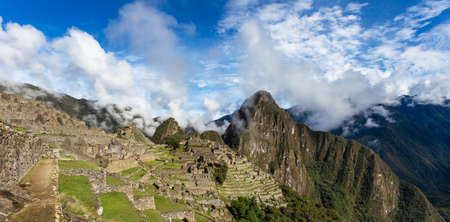 View of the city of Machu Picchu, Peru. Panorama.