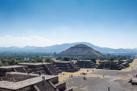 2019-11-25 Teotihuacan, Mexico. View of the pyramid of the sun.
