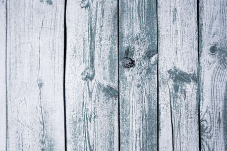 Old wooden planks, background, copy space. Blue