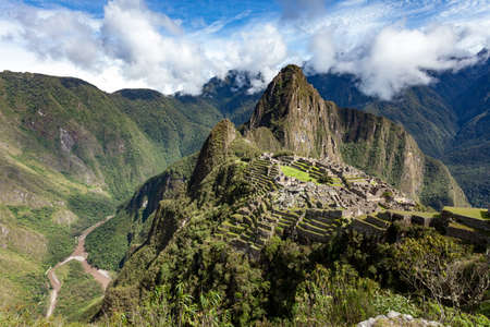 Beautiful view of the unesco world heritage site Machu Picchu