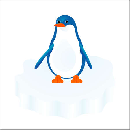 floe: Penguin on an ice floe