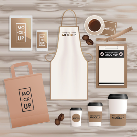 Corporate identity design template set for coffee shop or house corporate identity design template set for coffee shop or house mock up package maxwellsz