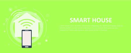 Smart house banner. Vector flat illustration Illustration