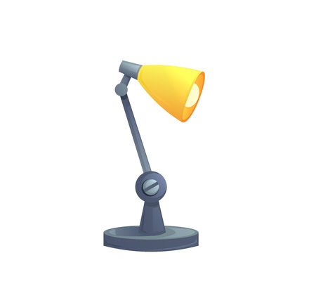 Table office lamp isolated. Ilustrace
