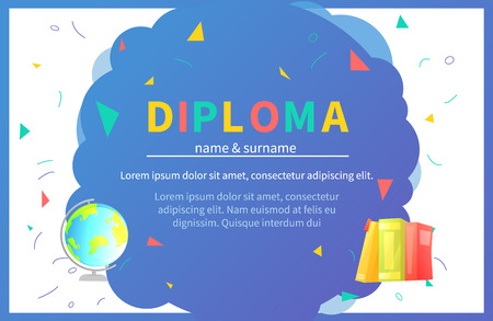 Kindergarten certificate templates for student.  イラスト・ベクター素材