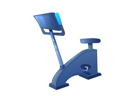 Sportfahrrad für das Fitnessstudio. Heimtrainer für Cardio-Training. Vektor-Cartoon-Illustration