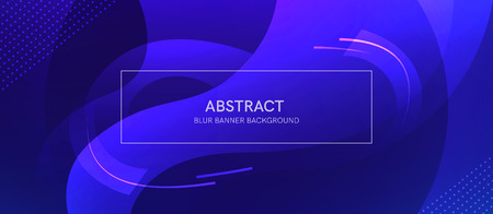 Abstract banner with gradient shapes and blur background with dark neon color. Vector template design