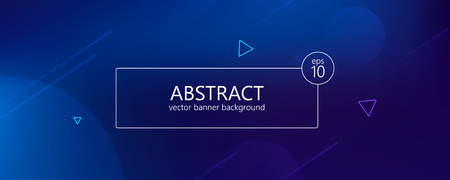 Abstract banner with gradient shapes and blur background with dark neon color. Çizim
