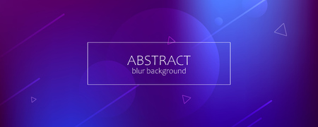 Abstract banner with gradient shapes and blur background with dark neon color. Dynamic shape composition. Vector template design