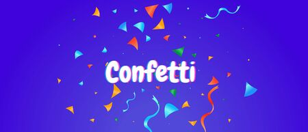 Confetti background colorful explosion. Abstract vector illustration banner Çizim