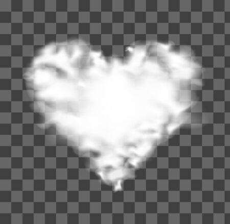 A love heart shapes of white clouds.