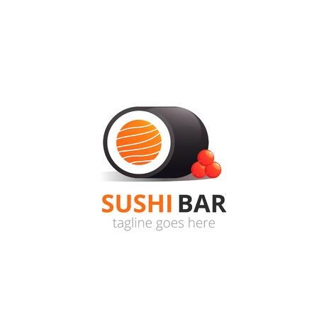 Japanese sushi  for concept design. Asian food. Vector icon. Иллюстрация