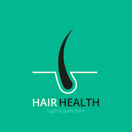 Hair transplantation logo concept for design. Vector healthcare medicine icon