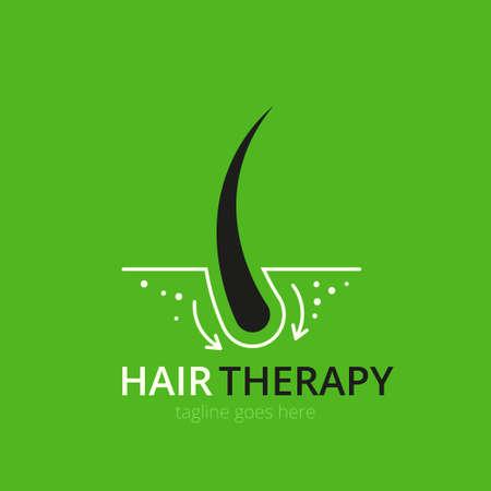 Hair therapy  concept for design. Vector healthcare medicine icon