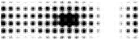 Halftone in abstract style. Geometric retro banner vector texture. Modern print. White and black background. Light effect Иллюстрация