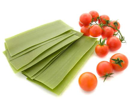 lasagna: Lasa�as con hojas de tomate