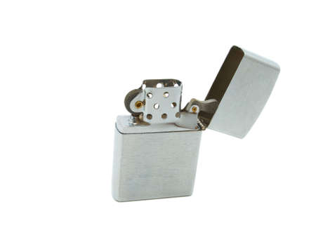 Classic style cigarette lighter isolated against a white background photo