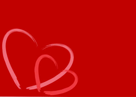 Two hearts on white background  with room for text. vector. photo