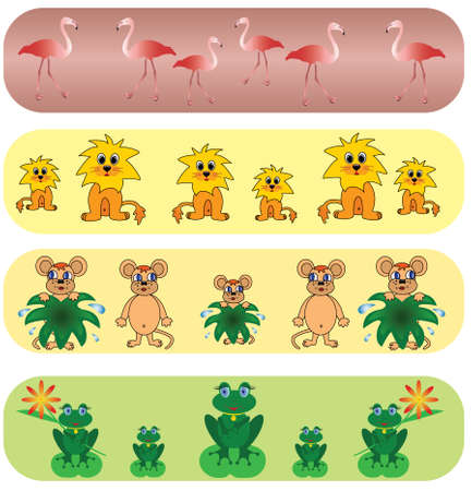 Set elegance and universal animals backgrounds.Vector. Vector
