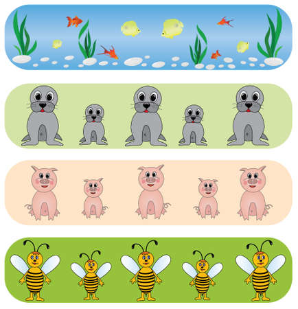Set elegance and universal animals backgrounds.Vector. Stock Vector - 4808371