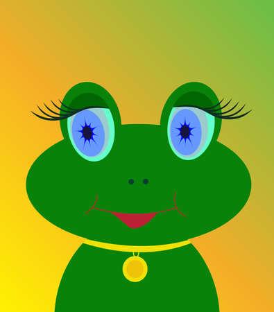 close up eye: frog vector