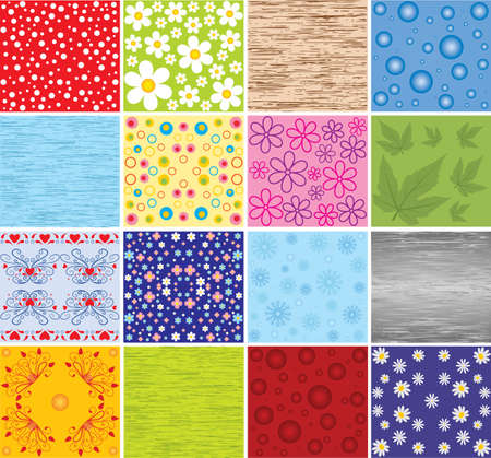 Collection of backgrounds. Vector. Stock Vector - 5149661