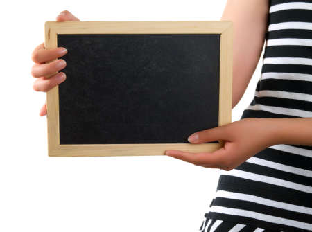 blackboard in hand Stock Photo - 5249234