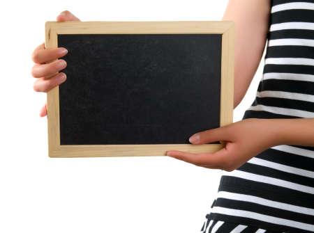 blackboard in hand Stock Photo - 5249234