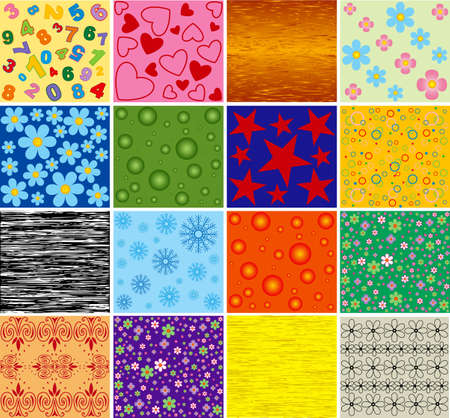 Collection of backgrounds. Vector.