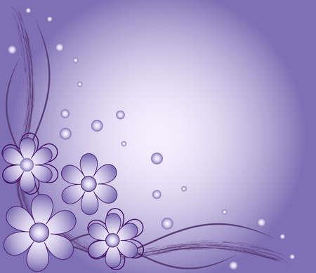 青い花の抽象的な背景、ベクター グラフィック デザインの要素  イラスト・ベクター素材